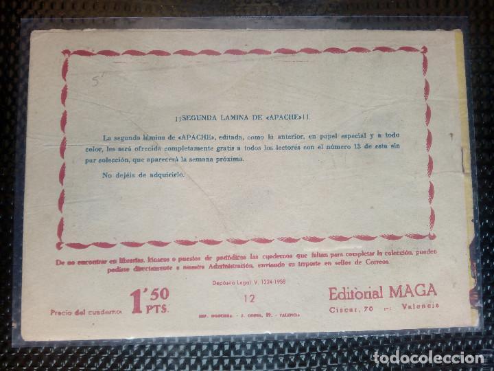 Tebeos: APACHE Nº 12 - ORIGINAL- EDT. MAGA 1958 ( M-5) - Foto 2 - 131857206
