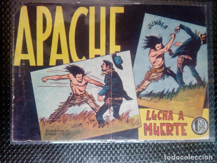 APACHE Nº 15 - ORIGINAL- EDT. MAGA 1958 ( M-5) (Tebeos y Comics - Maga - Apache)