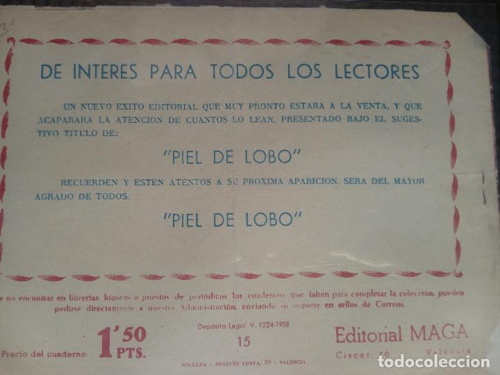 Tebeos: APACHE Nº 15 - ORIGINAL- EDT. MAGA 1958 ( M-5) - Foto 2 - 131857894