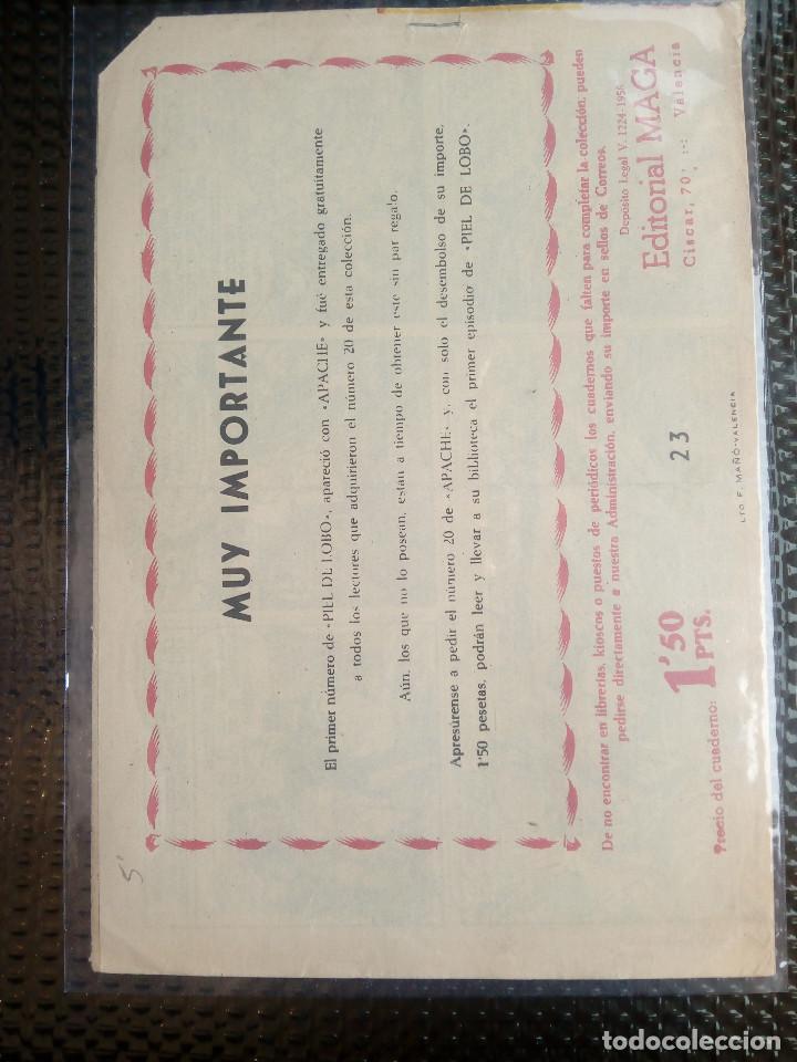 Tebeos: APACHE Nº 23 - ORIGINAL- EDT. MAGA 1958 ( M-5) - Foto 2 - 131859594