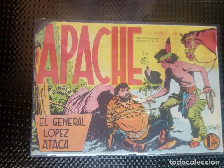 APACHE Nº 24- ORIGINAL- EDT. MAGA 1958 ( M-5) (Tebeos y Comics - Maga - Apache)