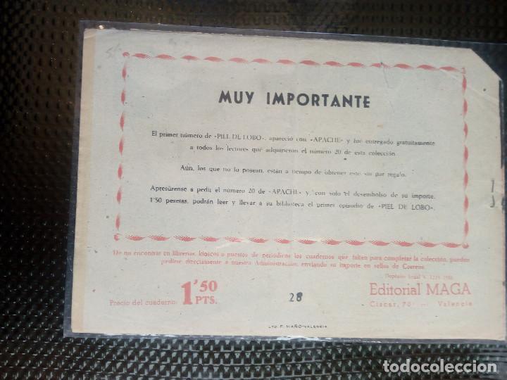 Tebeos: APACHE Nº 28 - ORIGINAL- EDT. MAGA 1958 ( M-5) - Foto 2 - 131901406