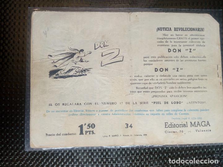 Tebeos: APACHE Nº 34 - ORIGINAL- EDT. MAGA 1955 ( M-5) - Foto 2 - 131902482