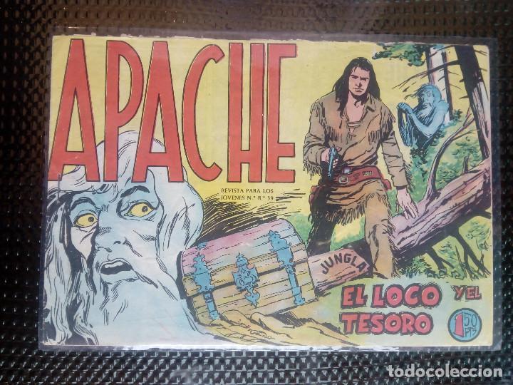 APACHE Nº 35 - ORIGINAL- EDT. MAGA 1955 ( M-5) (Tebeos y Comics - Maga - Apache)