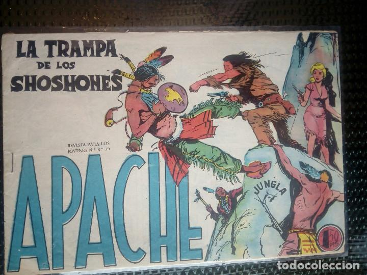 APACHE Nº 36 - ORIGINAL- EDT. MAGA 1955 ( M-5) (Tebeos y Comics - Maga - Apache)
