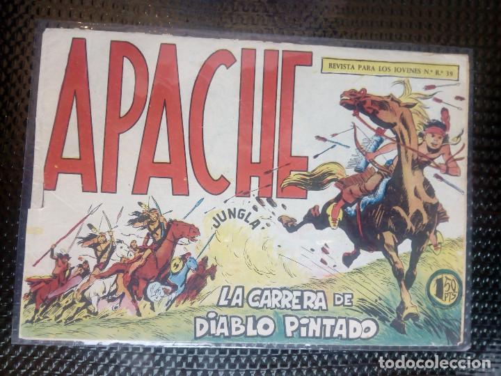 APACHE Nº 40 - ORIGINAL- EDT. MAGA 1958 ( M-5) (Tebeos y Comics - Maga - Apache)