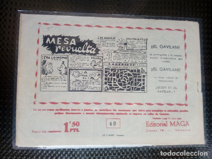 Tebeos: APACHE Nº 40 - ORIGINAL- EDT. MAGA 1958 ( M-5) - Foto 2 - 131921478