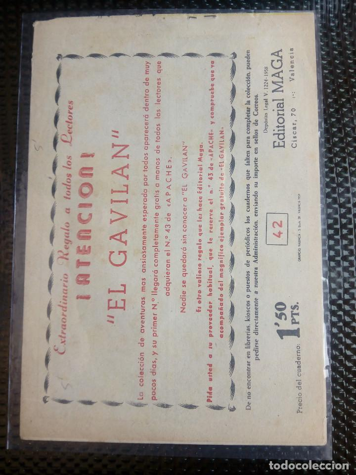 Tebeos: APACHE Nº 42 - ORIGINAL- EDT. MAGA 1958 ( M-5) - Foto 2 - 131921766