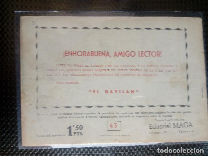 Tebeos: APACHE Nº 43 - ORIGINAL- EDT. MAGA 1958 ( M-5) - Foto 2 - 131922102