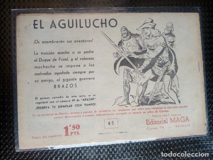 Tebeos: APACHE Nº 45 - ORIGINAL- EDT. MAGA 1958 ( M-5) - Foto 2 - 131922414