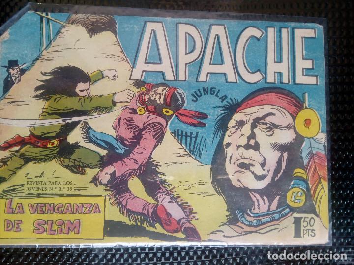 APACHE Nº 55 - ORIGINAL- EDT. MAGA 1958 ( M-5) (Tebeos y Comics - Maga - Apache)