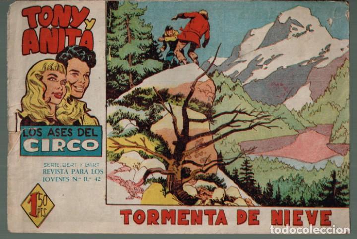 TONY Y ANITA LOS ASES DEL CIRCO.Nº-14 TORMENTA DE NIEVE. EDITORIAL MAGA 1960 (Tebeos y Comics - Maga - Tony y Anita)