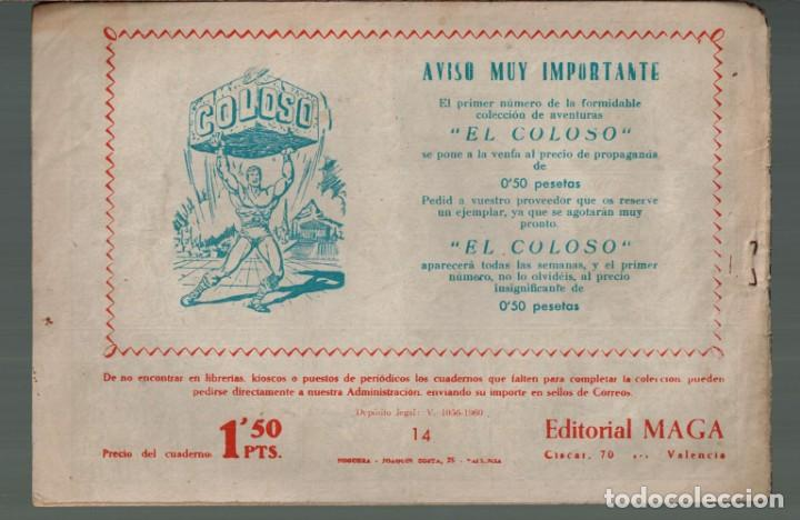 Tebeos: Tony y Anita Los Ases del Circo.Nº-14 Tormenta de Nieve. Editorial Maga 1960 - Foto 2 - 132496974