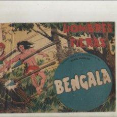 Tebeos: BENGALA-SERIE MARCOS-MAGA-APAISADO-B/N-AÑO1959-FORMATO GRAPA-Nº 39-HOMBRES FIERAS. Lote 133158830