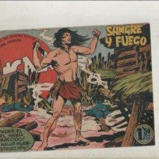Tebeos: BENGALA-SERIE MARCOS-MAGA-APAISADO-B/N-AÑO1959-FORMATO GRAPA-Nº 24-SANGRE Y FUEGO. Lote 133160922