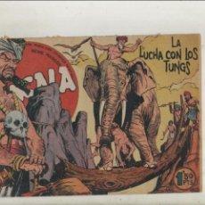 Tebeos: BENGALA-SERIE MARCOS-MAGA-APAISADO-B/N-AÑO1959-FORMATO GRAPA-Nº 22-LA LUCHA CON LOS TUNGS. Lote 133161262