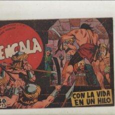 Tebeos: BENGALA-SERIE MARCOS-MAGA-APAISADO-B/N-AÑO1959-FORMATO GRAPA-Nº 20-CON LA VIDA EN UN HILO. Lote 133161554