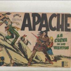 Tebeos: APACHE-MAGA-APAISADO-B/N-AÑO 1958-FORMATO GRAPA-Nº 53-LA CUEVA DE LOS VIENTOS. Lote 133196358