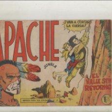 Tebeos: APACHE-MAGA-APAISADO-B/N-AÑO 1958-FORMATO GRAPA-Nº 43-EL VALLE SIN RETORNO. Lote 133196970