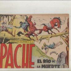 Tebeos: APACHE-MAGA-APAISADO-B/N-AÑO 1958-FORMATO GRAPA-Nº 42-EL RIO DE LA MUERTE. Lote 133197086