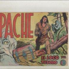 Tebeos: APACHE-MAGA-APAISADO-B/N-AÑO 1958-FORMATO GRAPA-Nº 35-EL LOCO Y EL TESORO. Lote 133197474