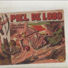 BDs: PIEL DE LOBO-MAGA-B/N-APAISADO-AÑO 1959-FORMATO GRAPA-Nº 73-FLECHAZO MORTAL. Lote 133199286
