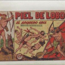 BDs: PIEL DE LOBO-MAGA-B/N-APAISADO-AÑO 1959-FORMATO GRAPA-Nº 70-EL ARQUERO GRIS. Lote 133199758