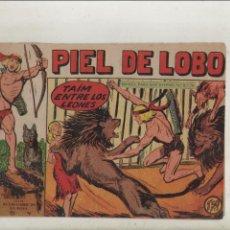 BDs: PIEL DE LOBO-MAGA-B/N-APAISADO-AÑO 1959-FORMATO GRAPA-Nº 66-TAIM ENTRE LOS LEONES. Lote 133200066