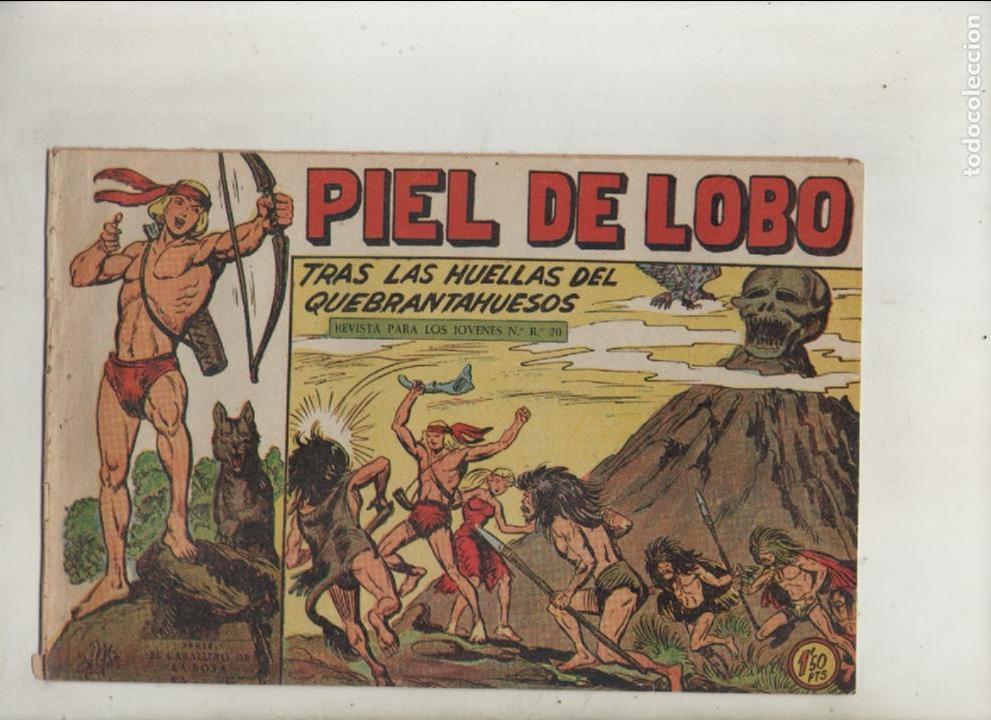 PIEL DE LOBO-MAGA-B/N-APAISADO-AÑO 1959-FORMATO GRAPA-Nº 63-TRAS LAS HUELLAS DEL QUEBRANTAHUESOS (Tebeos y Comics - Maga - Piel de Lobo)