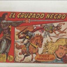 Tebeos: EL CRUZADO NEGRO-MAGA-APAISADO-B/N-AÑO 1961-FORMATO GRAPA-Nº 36-TRES MURALLAS. Lote 133231806