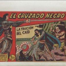 Tebeos: EL CRUZADO NEGRO-MAGA-APAISADO-B/N-AÑO 1961-FORMATO GRAPA-Nº 26-LA TRAICION DEL CAID. Lote 133232102