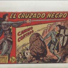 Tebeos: EL CRUZADO NEGRO-MAGA-APAISADO-B/N-AÑO 1961-FORMATO GRAPA-Nº 25-CAMINO CORTADO. Lote 133232226