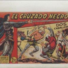 Tebeos: EL CRUZADO NEGRO-MAGA-APAISADO-B/N-AÑO 1961-FORMATO GRAPA-Nº 22-DOS CABALLEROS. Lote 133232350