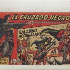 Tebeos: EL CRUZADO NEGRO-MAGA-APAISADO-B/N-AÑO 1961-FORMATO GRAPA-Nº 20-SALADINO ACORRALADO. Lote 133232638
