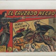 Tebeos: EL CRUZADO NEGRO-MAGA-APAISADO-B/N-AÑO 1961-FORMATO GRAPA-Nº 14-DOBLE VICTORIA. Lote 133232786