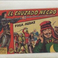 Tebeos: EL CRUZADO NEGRO-MAGA-APAISADO-B/N-AÑO 1961-FORMATO GRAPA-Nº 8-FUGA AUDAZ. Lote 133232946
