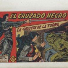 Tebeos: EL CRUZADO NEGRO-MAGA-APAISADO-B/N-AÑO 1961-FORMATO GRAPA-Nº 5-LA CAUTIVA DE LA TORRE. Lote 133233078