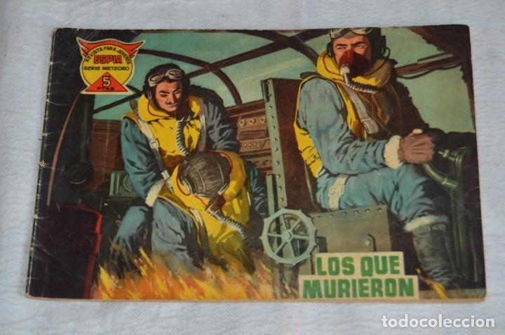 EL ESPIA - MAGA - Nº 12 - LOS QUE MURIERON - REVISTA PARA JÓVENES ESPÍA - SERIE METEORO (Tebeos y Comics - Maga - Otros)