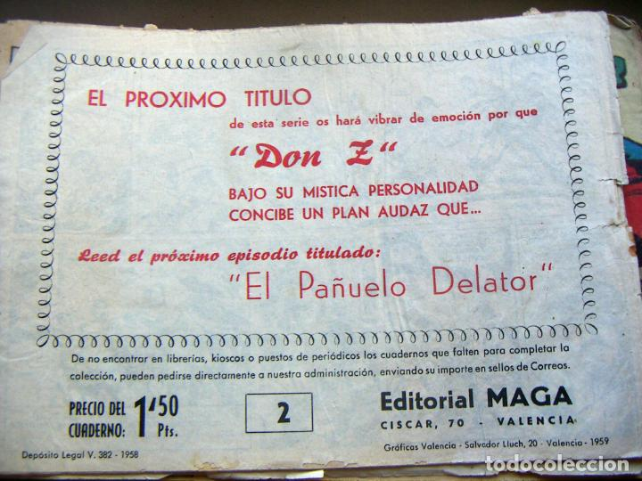 Tebeos: DON Z. EDITORIAL MAGA 1959. COLECCION 89 EJEMPLARES solo falta el último nª 90 - Foto 7 - 134935502