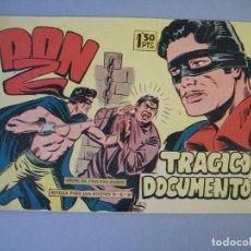 Tebeos: DON Z (1959, MAGA) 12 · 30-XII-1959 · TRÁGICO DOCUMENTO. Lote 135789386