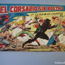 Tebeos: CORSARIO SIN ROSTRO, EL (1959, MAGA) 12 · 27-V-1959 · LA ISLA DE LOS LAGARTOS. Lote 135806526