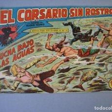 Tebeos: CORSARIO SIN ROSTRO, EL (1959, MAGA) 17 · 1-VII-1959 · LUCHA BAJO LAS AGUAS. Lote 135809282