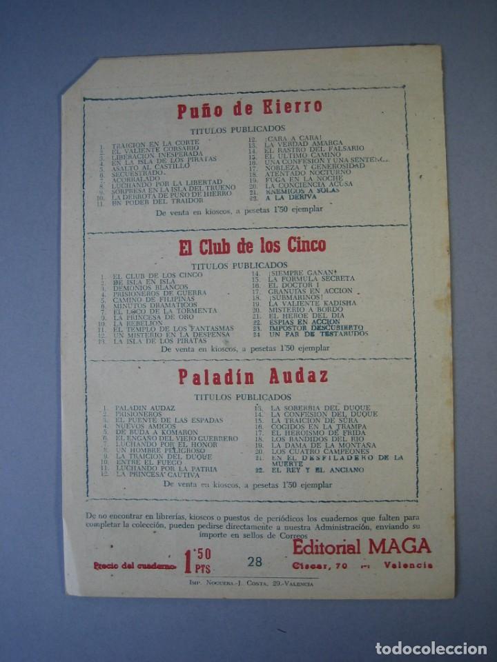 Tebeos: PEQUEÑO HEROE, EL (1957, MAGA) 28 · 20-XI-1950 · EL MISTERIOSO WANUNDA - Foto 2 - 136219670