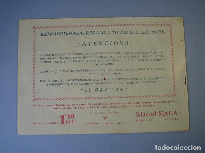 Tebeos: BENGALA (1959, MAGA) 36 · 25-XI-1959 · EL VALLE DE LAS SOMBRAS - Foto 2 - 136221178