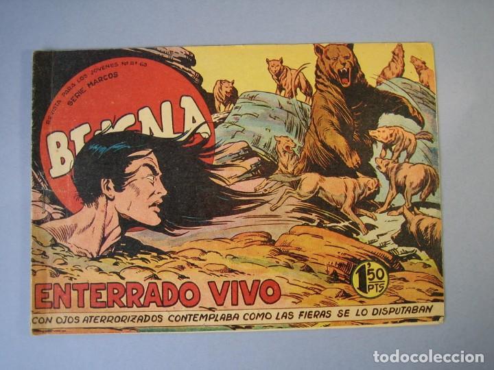 BENGALA (1959, MAGA) 13 · 17-VI-1959 · ENTERRADO VIVO (Tebeos y Comics - Maga - Bengala)
