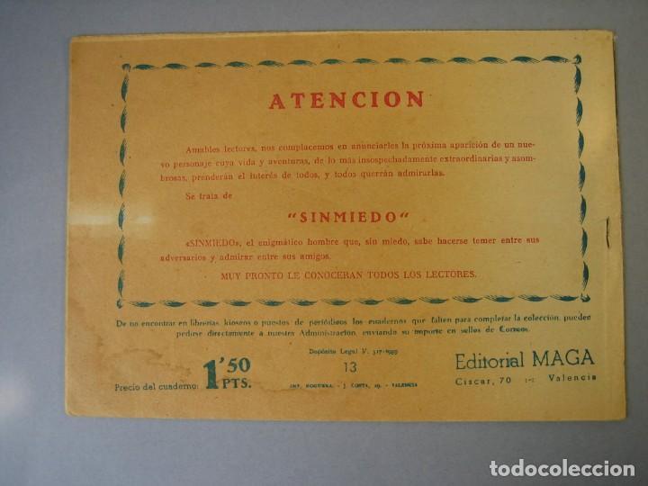 Tebeos: BENGALA (1959, MAGA) 13 · 17-VI-1959 · ENTERRADO VIVO - Foto 2 - 136221358