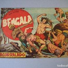 Tebeos: BENGALA (1959, MAGA) 3 · 8-IV-1959 · ACORRALADO. Lote 136222062