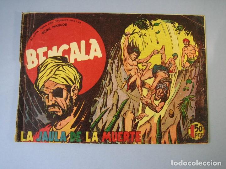 BENGALA (1959, MAGA) 7 · 6-V-1959 · LA JAULA DE LA MUERTE (Tebeos y Comics - Maga - Bengala)
