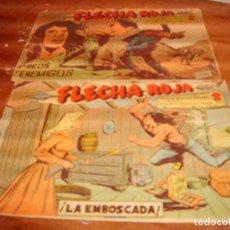 Tebeos: FLECHA ROJA ORIGINALES NºS 2 Y 64. EDITORIAL MAGA 1962.. Lote 136485658