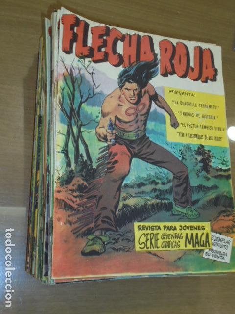 REVISTA FLECHA ROJA CASI COMPLETA 65 NUMEROS A FALTA SOLO DEL Nº 18-29 Y 30 - MAGA - ORIGINAL (Tebeos y Comics - Maga - Flecha Roja)